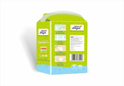 LITTLE ANGEL Extra Dry Diapers combo of 3 - Large (10 Pieces)