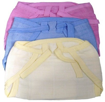 Baby Land Baby land Just Born Cloth Nadi Washable Reusable Padded Cushioned Diaper - large (3 Pieces)