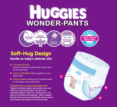 Huggies Wonder-pants Diaper - Large (60 Pieces)
