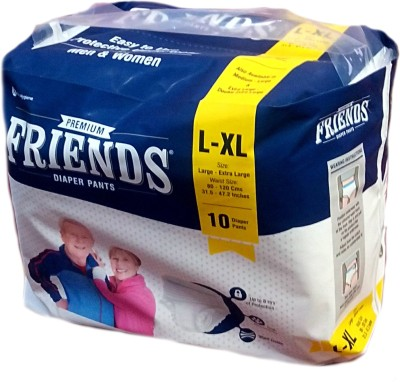 FRIENDS PULL UPS / PANT STYLE DIAPERS 10 Pieces - LARGE-XL (10 Pieces)