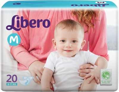 Libero Disposable Baby Diapers - Medium (20 Pieces)