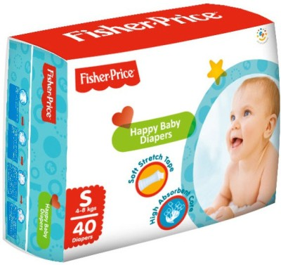 FisherPrice Happy Baby Diapers - Small - (4-8 Kgs) (40 Pieces)