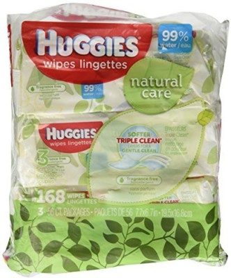 Huggies Natural Care Fragrance Free Soft Pack Wipes - One Size (56 Pieces)