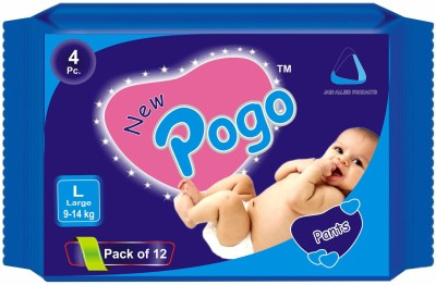 New Pogo Diaper Pants - Pack Of 4(Set Of 12) - Large (48 Pieces)