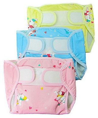 EIO New Arrival Adjustable Reusable Washable Baby Cloth Diaper Napp With Insert Pack of 3 - large (3 Pieces)