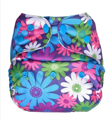 Bumberry Diaper Cover-Purples flowers - One - Size (1 Pieces)