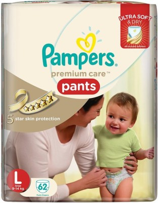 Pampers Premium Care Pants Large Size - 62pcs (9 - 14 Kgs) - Large (62 Pieces)