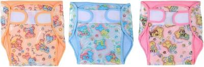 CHHOTE JANAB BABY TOWEL PLASTIC DIAPER - MEDIUM (3 Pieces)