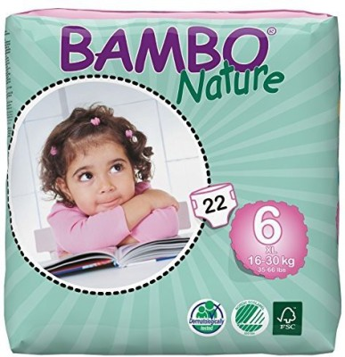 Bambo Nature Premium Baby Diapers - X-Large (22 Pieces)