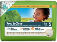 Seventh Generation Free And Clear Size 5 Animal Print - Large (23 Pieces)