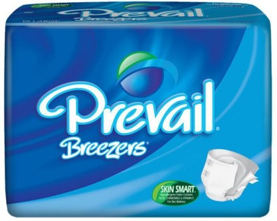 Prevail Breezers Adult Diapers - Waist Size 45 To 58 Inches - Large (18 Pieces)