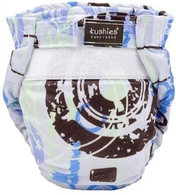 Kushies Ultra-Lite Diaper Blue Distressed Circles - New Born