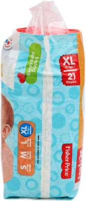 FisherPrice Happy Baby Diapers - XL - (12 Kgs) (21 Pieces)