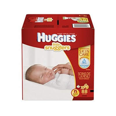 Huggies Little Snugglers Baby Diapers - Small (88 Pieces)