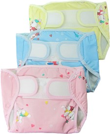 Eio EIO Baby Infant Washable Reusable Pocket Nappy Diaper Covers with Inserts (Pack of 3) - Regualr