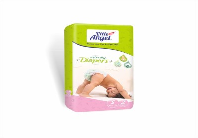 LITTLE ANGEL Extra Dry Diapers combo of 5 - small (2 Pieces)