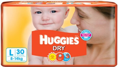 Huggies New Dry Diaper - Large (56 Pieces)