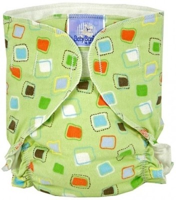 Kushies Baby Basic Diaper Single Green Squares - Infant