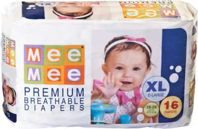 Mee Mee Premium Breathable Diapers - Extra Large (16 Pieces)