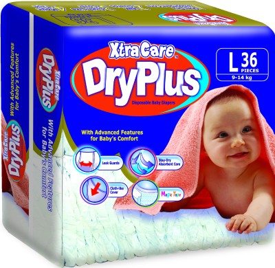 Xtracare Dryplus Disposable Baby Diapers - Large (36 Pieces)