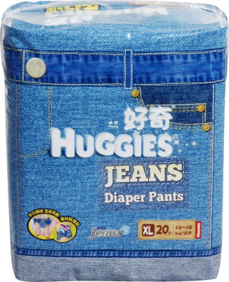 Buy Combo of 6 Huggies Jeans Diaper Pants - Extra Large: Bundle