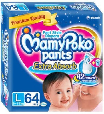 Mamy Poko Pant Style Diaper - Large (64 Pieces)