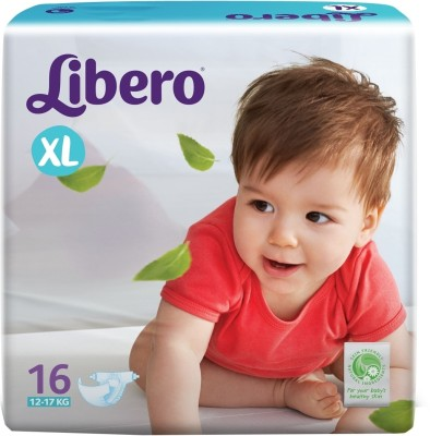 Libero Disposable Baby Diapers - Extra Large (16 Pieces)