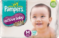 Pampers Active Baby Diapers Taped M Size (Medium) 62 Pads: Diaper