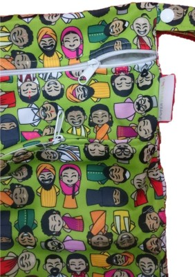 Superbottoms Colours of India Wet Bag with 2 Compartments - Free Size (1 Pieces)