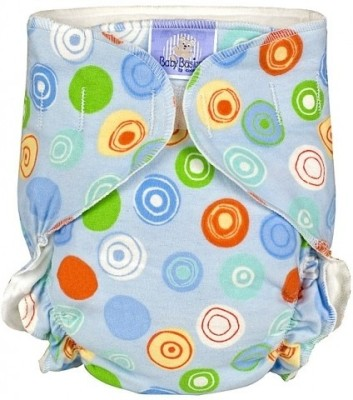 Kushies Baby Basic Diaper Single Blue Crazy Circles - Toddler