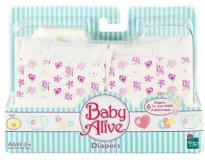 Hasbro Baby Alive Diapers (6 Pieces)
