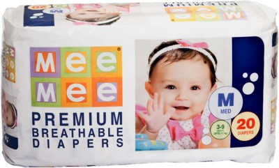 Mee Mee Premium Breathable Diapers - Medium (20 Pieces)