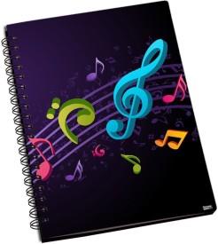 RangeeleShope Musical Craze A5 Notebook Ring Bound