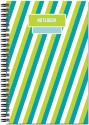 Art Emporio Green Bars A5 Notebook Spiral - Green