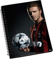 Shoprock David Beckham Football A5 Notebook Ring Bound (Black)