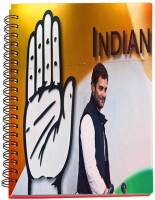 Shoperite Rahul Gandhi A5 Notebook Ring Bound (Multicolor)