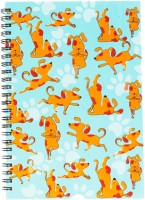 TheCrazyMe My Pet My Best Friend Spiral A5 Diary Spiral Bound (Multicolor)