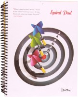 Gathbandhan Coloured Pages (Pack Of 2) A4 Notebook Spiral Bound (Multi Color)