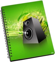 Shoprock Green Music A5 Notebook Ring Bound (Green)