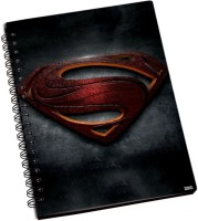 Shoprock Superman Man Of Steel A5 Notebook Ring Bound (Grey)
