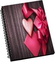 AMY Cute Pink Gifts With Pink Heart A5 Notebook Spiral Bound (Multicolor)