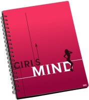 Rockmantra Girls Mind A5 Notebook Ring Bound (Pink)