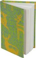 Rajrang Recycled Handmade A6 Notebook Hard Bound (Green, Yellow)
