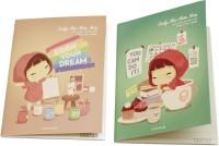 Yoofun Cheer Up Notebook Mini Memo Book Soft Bound (Green, Orange, Pack Of 2)