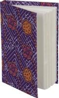 Rajrang Recycled Handmade A6 Notebook Hard Bound (Purple, Orange)