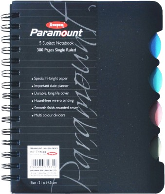 Buy Anupam Fancy A5 Notebook Spiral Bound: Diary Notebook