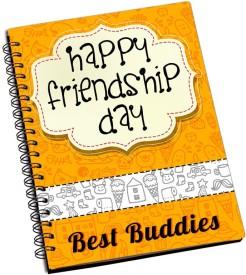 ShopMantra Best Buddies Friendship Day Design A5 Notebook Spiral Bound
