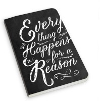 The Fappy Store Everything Happens For A Reason A5 Notebook Soft Bound (Multicolor)