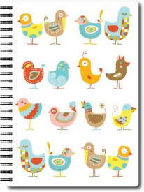 Nourish A6 Size RULED Pages Colourful Graphic Diary A6 Notebook Spiral Bound