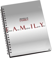 Rockmantra Family Quotes A5 Notebook Ring Bound (Pink)